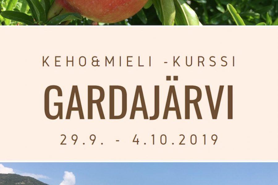 Keho&Mieli -kurssi Gardajärvellä 29.9-4.10.2019